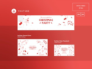 Thumbnail for Christmas Party Social Media Pack Template