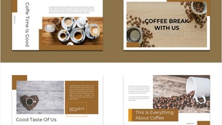 Kopiyopi — Кофейный бизнес Google слайд Шаблон