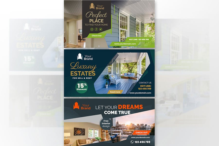 10 Social Media Banners - Real Estate - product preview 4