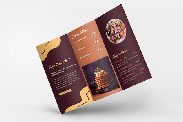 Food & Restaurant Trifold Brochure