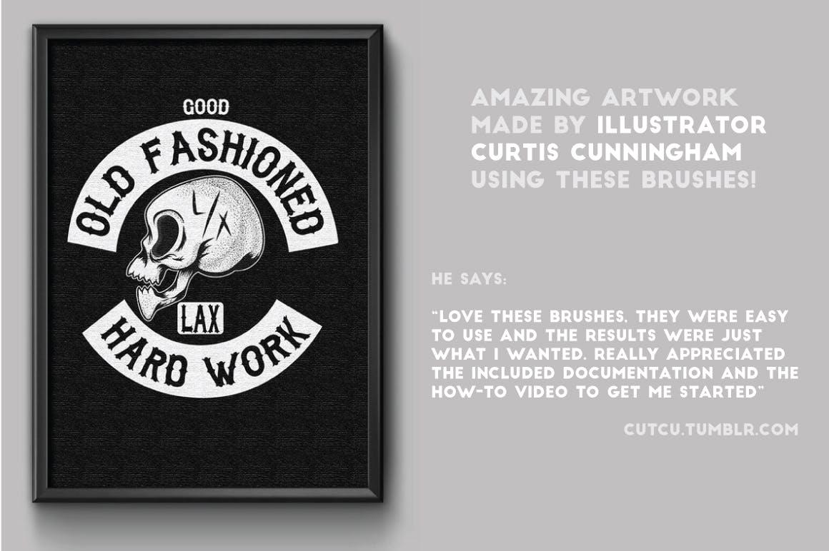 Illustrator纹身风格艺术笔刷Tattoo Style Art Brushes插图1