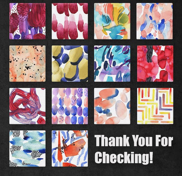 Vibrant Watercolor Patterns - product preview 6