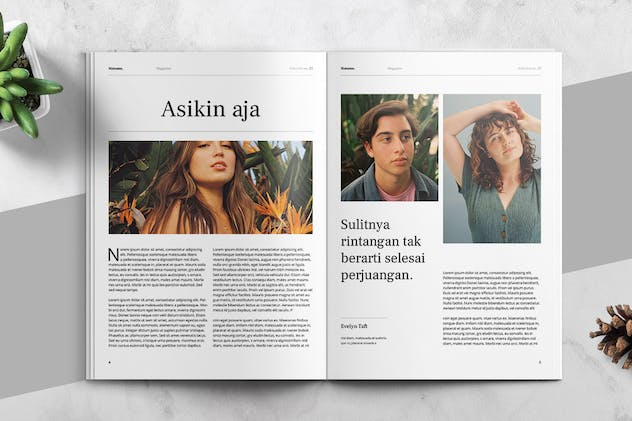MATAMU - Clean and Minimalist Magazine Template - product preview 3