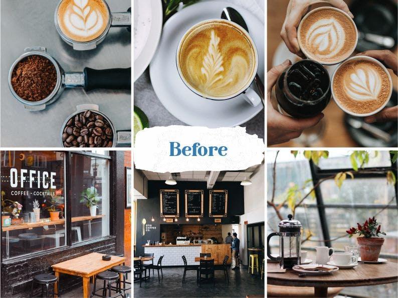 Coffee Shop Ajustes preestablecidos de Lightroom