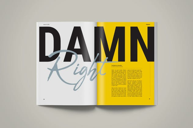 Magazine Template | Petrichor - product preview 7