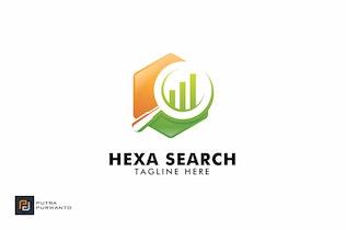Thumbnail for Hexa Search - Logo Template