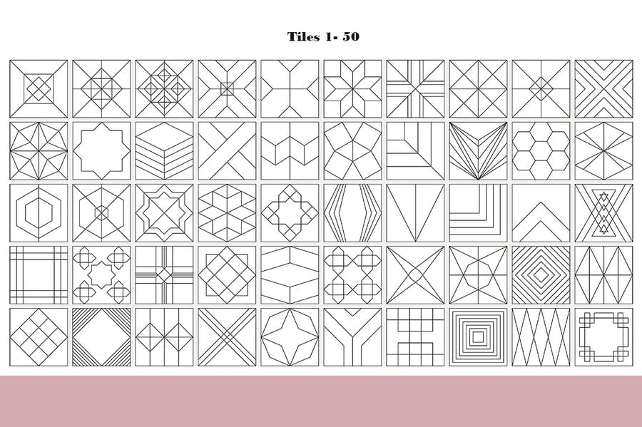 100 Tiles Patterns - product preview 8