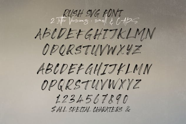Rush Brush & SVG Font - product preview 3