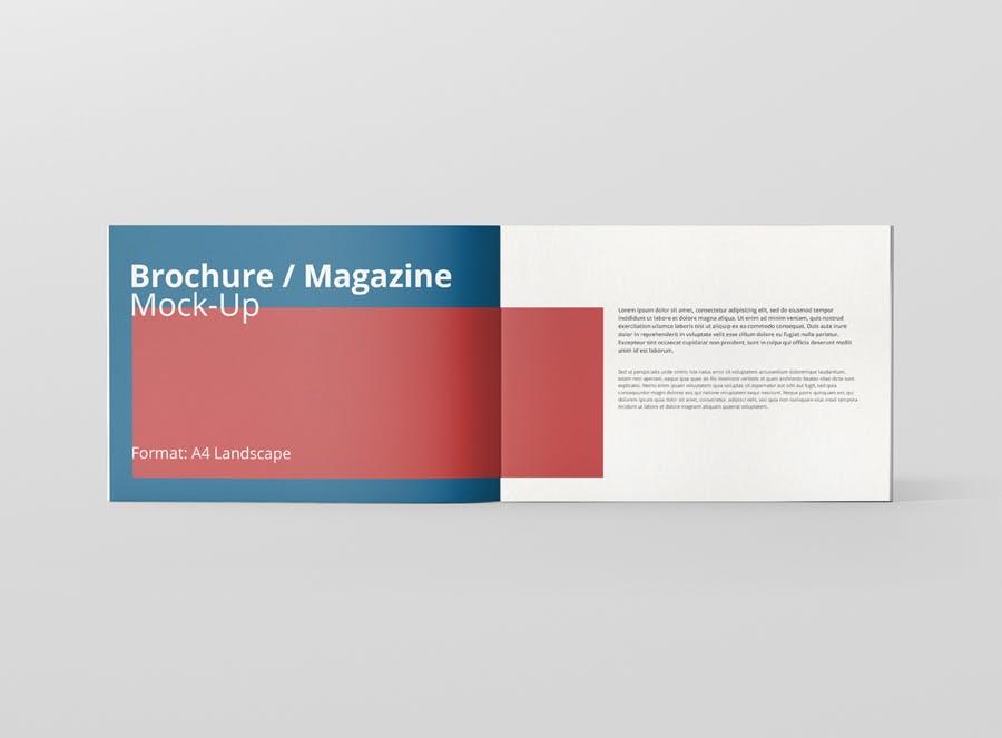 Preview image 6 for А4 Ландшафтная брошюра/Журнал Mock-Up