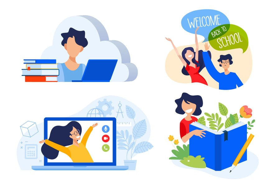 Education illustrations - product preview 1