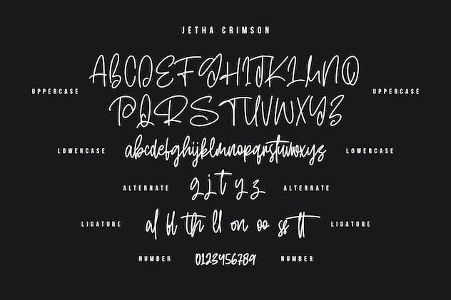 Jetha Crimson Signature Brush Font Typeface - product preview 1