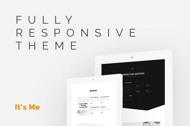 It's Me - Creative Personal Responsive Portfolio - product preview 2