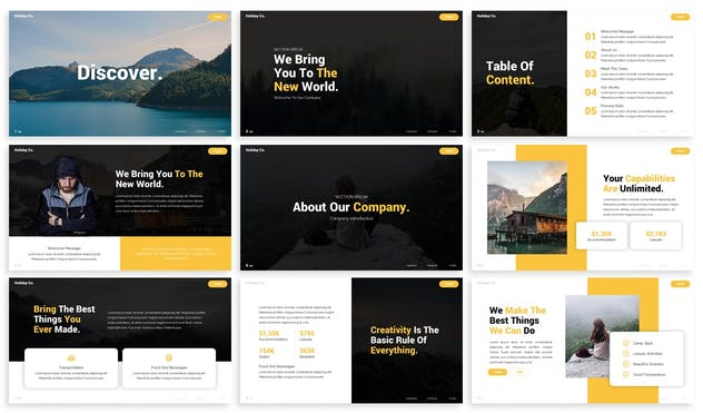 Discover - Advertising Powerpoint Template - product preview 1