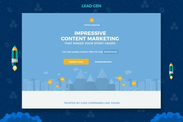 Content Marketing Unbounce Landing Page - product preview 4