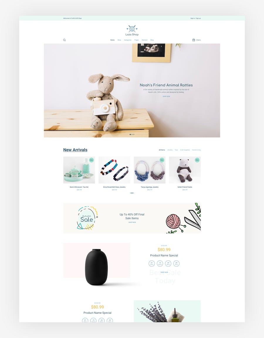 Laza - Craft Shop Sketch Template