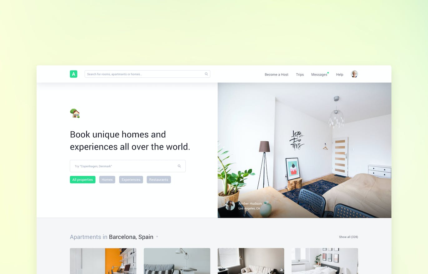 Clone UI Kit - Home booking like Airbnb by panoplystore on