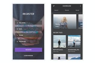 Sanduk - Kit d'interface utilisateur de la plate-forme de partage de fichiers