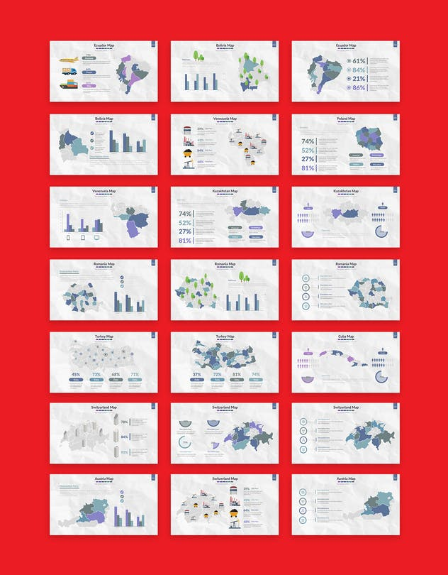 Map powerpoint template
