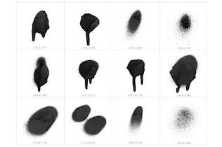 Thumbnail for 101 Spot&Blob Spray Photoshop Stamp Brushes