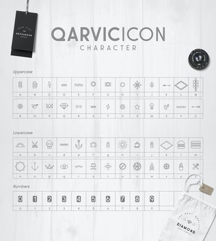 Thumbnail for QARVIC Typeface