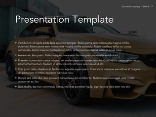 Thumbnail for Car Rental Google Slides Theme