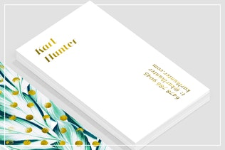 Thumbnail for Nature & Gold Business Card Template