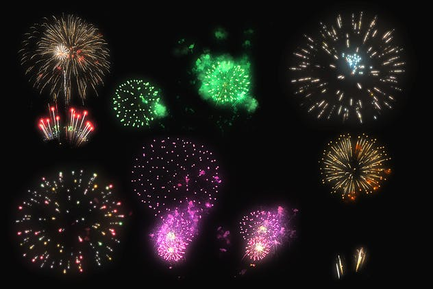 100 Firework Overlays - product preview 7