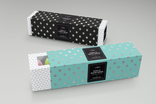 Food Pastry Boxes Vol.2: Packaging Mockups - product preview 4