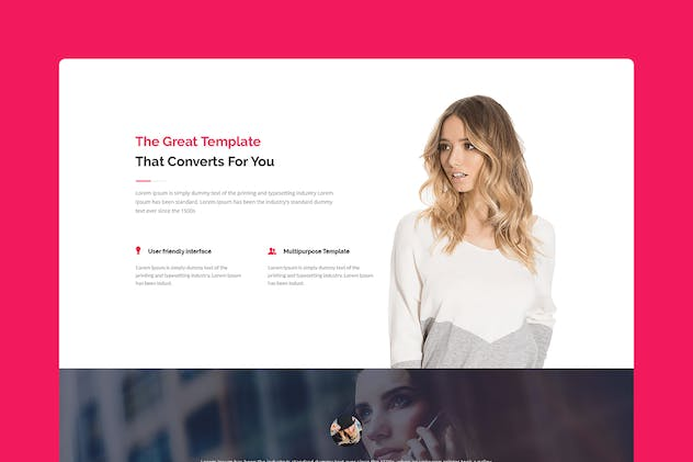 Infinite - CMS Unbounce Template - product preview 1