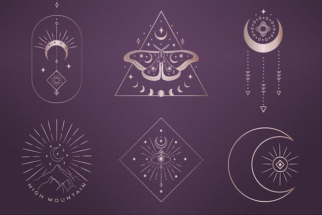 Divine Beauty Pre-Made Designs. Esoteric, mystic. - product preview 1