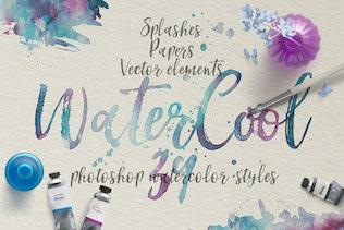 Thumbnail for WaterCool Kit. Watercolor Styles