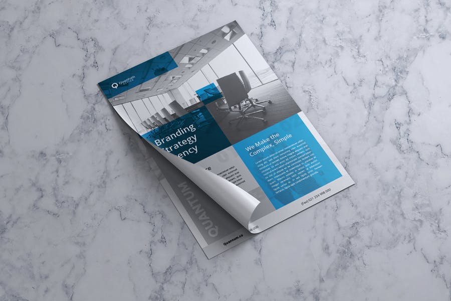 QUANTUM Corporate Business Flyer - product preview 2