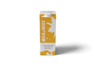 Milch und Saft Verpackung Mock-ups