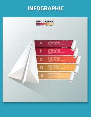 Thumbnail for Minimal Rocket Infographics Design