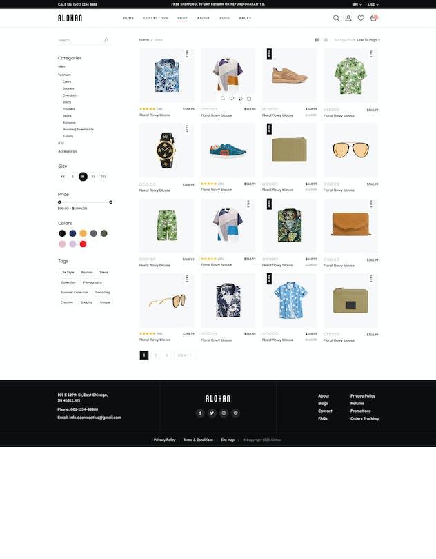 Alohan | Minimalist Fashion PSD Template - product preview 7