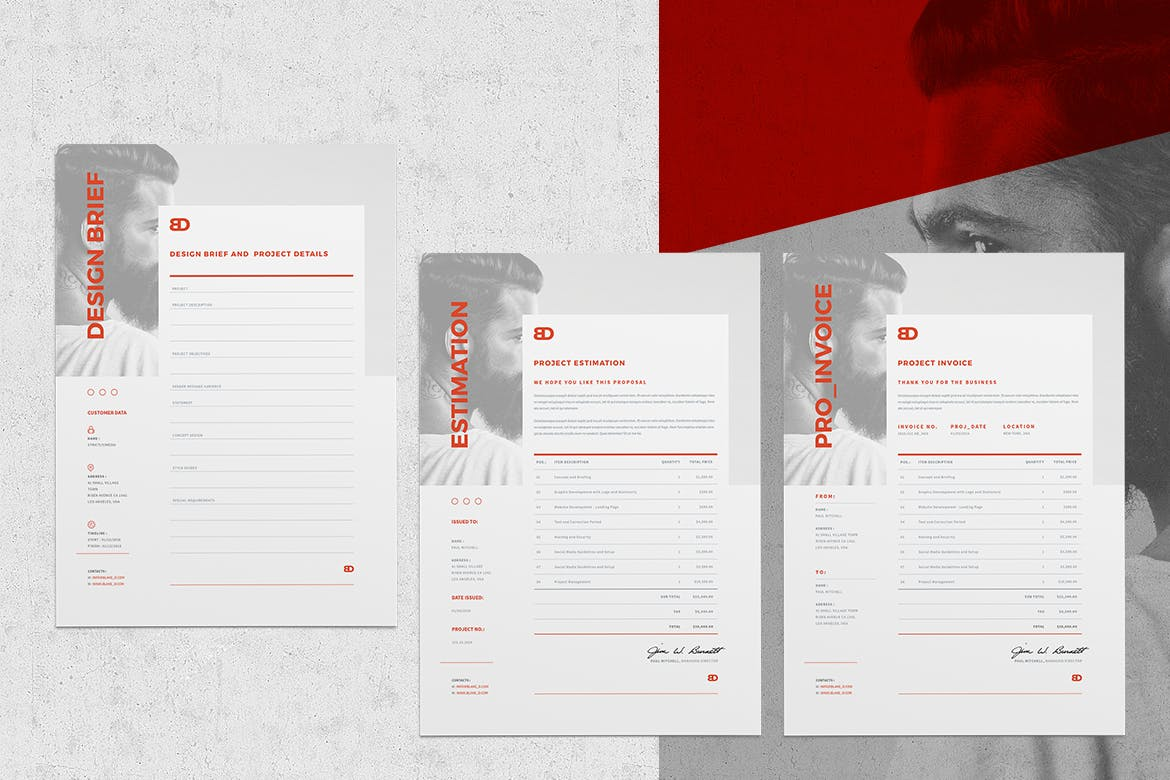 Brief Estimation Invoice Templates By Egotype On Envato Elements