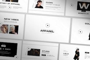 Thumbnail for Apparel Google Slide Apparel Presentation Template