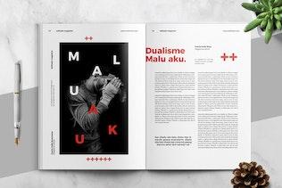 Modern Swiss Style Magazine Template