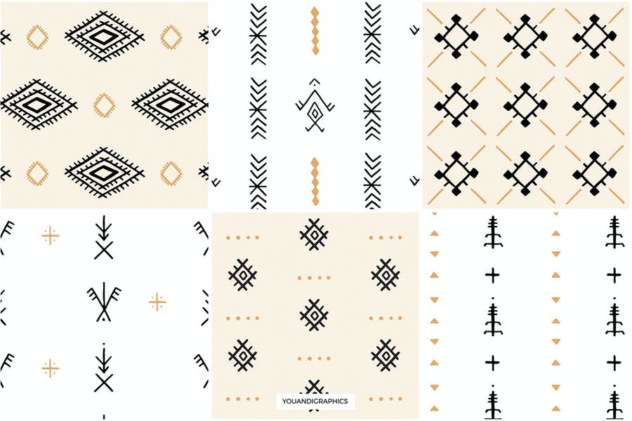 Moroccan Berber Seamless Patterns - product preview 10