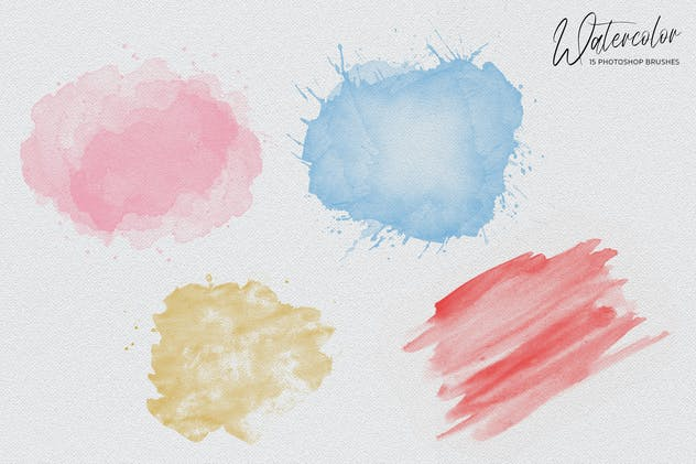 Watercolor Photoshop Brushes - product preview 3
