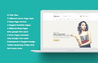 Thumbnail for Shopaholic - Beautiful eCommerce PSD Template