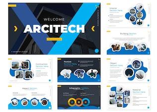 Миниатюра для Arcitech | Шаблон Powerpoint
