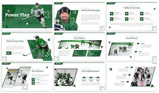 Miniatura para Power Play - Modelo de Hockey Powerpoint