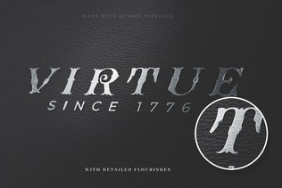Thumbnail for Bushel - A vintage Flourish Font