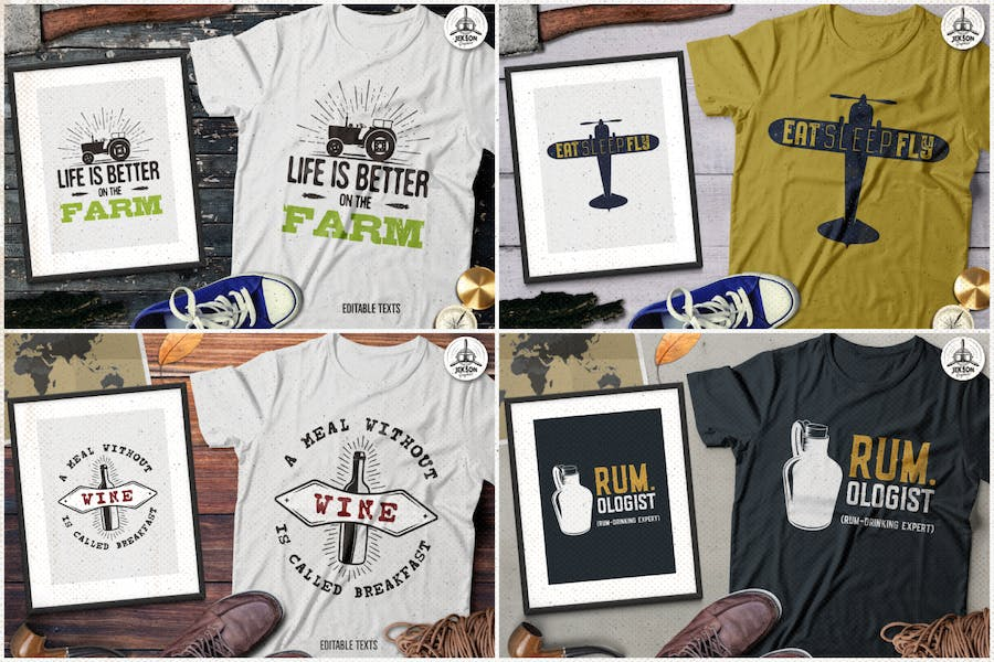 T-Shirt Designs Retro Collection. Part 4 - product preview 1
