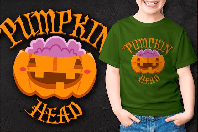 Halloween Cute Pumpkin Laugh - product preview 3