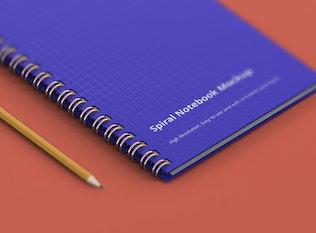 Thumbnail for Spiral Ring Notebook Mockup
