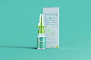 Thumbnail for Nasal Spray Clear Bottle With Box Mockup