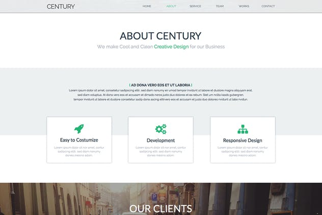 Century - Agency Multi Page Adobe Muse Template - product preview 3