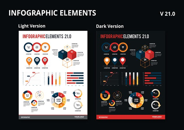 Infographic Examples for Designer V.26 - product preview 0
